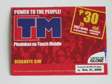 Touch Mobile (TM) SIM