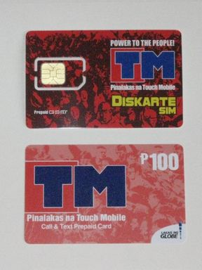 Touch Mobile (TM) SIM and Prepaid Card