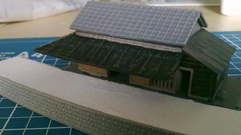 建物コレクション駅Aとスチレンボードのプラットフォーム